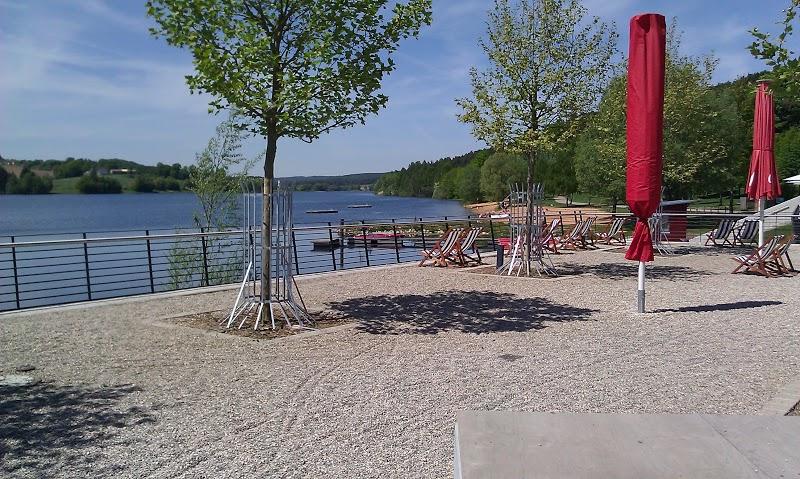 Blick Strandhaus Zweiseenplatz Igelsbachsee