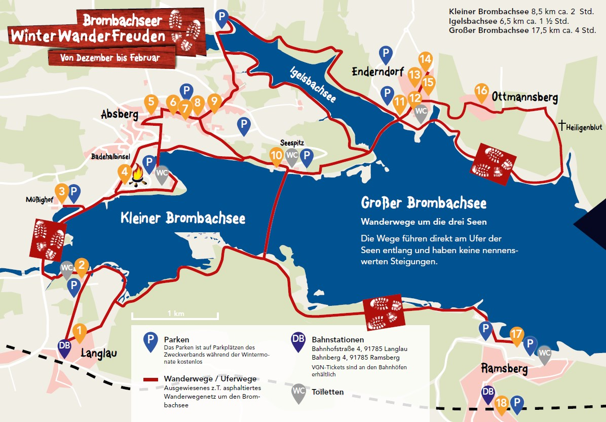 brombachsee karte Brombachseer WinterWanderFreuden   Wandern am Brombachsee   Unser